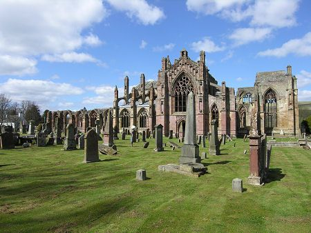 Melrose Abbey Feature Page on Undiscovered Scotland  Visit www.exploreuktravel.co.uk for holidays in Scotland