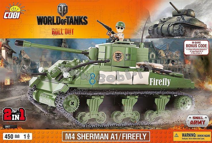 M4 Sherman A1 / Firefly.  Modyfikacja amerykańskiego czołgu M4 Sherman stworzona przez Brytyjczyków w okresie II wojny światowej. Od swojego pierwowzoru różnił się przede wszystkim dużo większą armatą, bo aż 17 funtową. Głównym użytkownikiem Shermana Firefly była Wielka Brytania oraz Polskie Siły Zbrojne na Zachodzie.