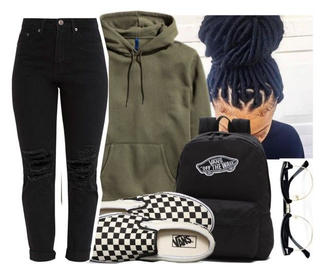 """"""""""" by eazybreezy305 ❤ liked on Polyvore featuring Vans, Topman, simpleoutfit and 2017"""