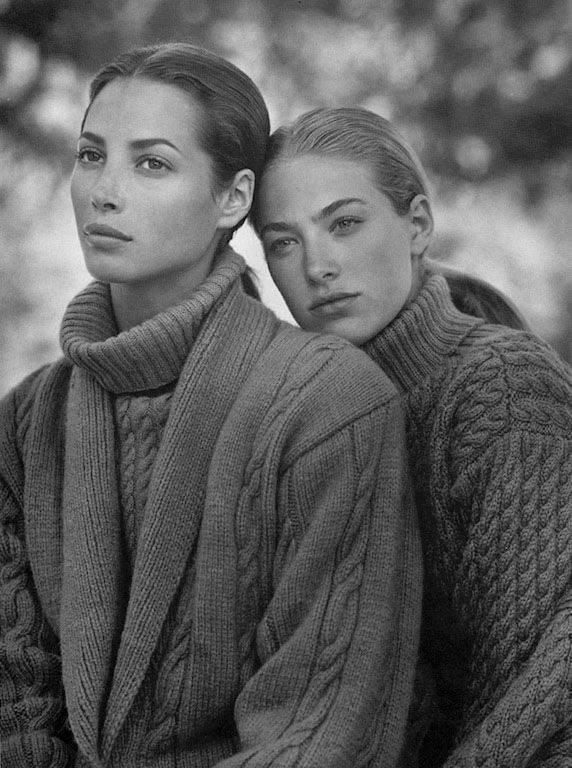 Christy Turlington and Elaine Irwin for Calvin Klein, in Vogue, 1989