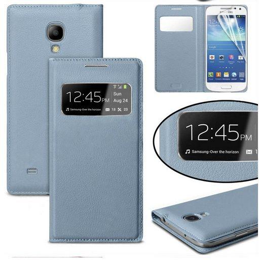 S View Flip Case Cover Θήκη OEM - Μπλε (Galaxy S4 mini) - myThiki.gr - Θήκες Κινητών-Αξεσουάρ για Smartphones και Tablets - S View Μπλε- Galaxy S4 mini