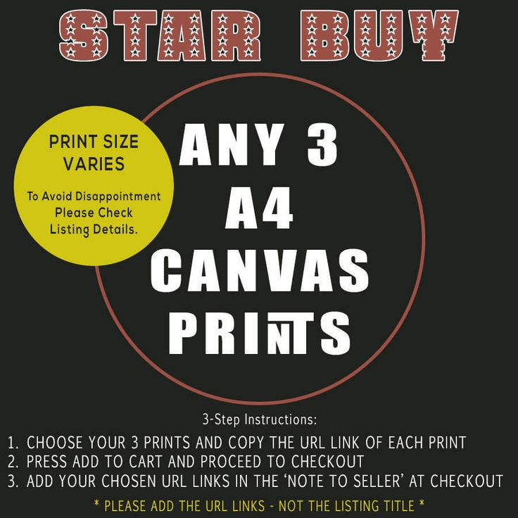 STAR BUY - Any Three (3) A4 Canvas Prints - Bulk Quantity Discount Offer by TheRetroPoster on Etsy