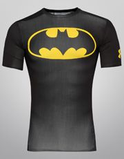 Camisa de Compressão Under Armour Batman - Preto+Amarelo