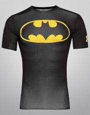 Camisa de Compressão Under Armour Batman - Preto+Amarelo