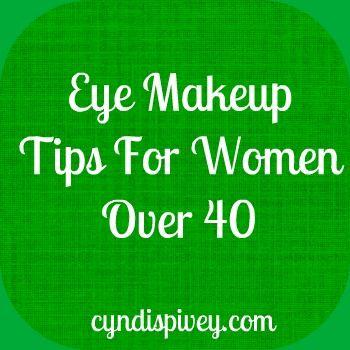 Eye makeup tips ~~ for women over 40