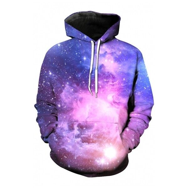 Fashion Hooded Galaxy 3D Color Block Long Sleeve Hoodie Sweatshirt ($31) ❤ liked on Polyvore featuring tops, hoodies, long hoodies, purple hoodies, galaxy hoodies, sweatshirt hoodies and colourblock hoodie