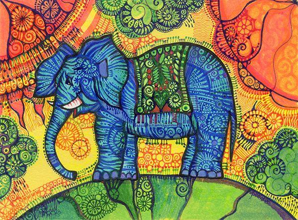 Słoń na spacerze