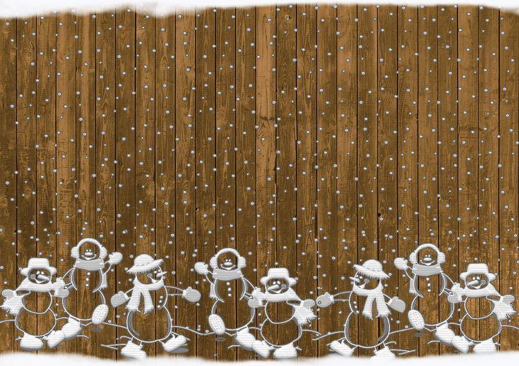 Boże Narodzenie, Bałwanki, Rustykalne, Śnieg, Tło