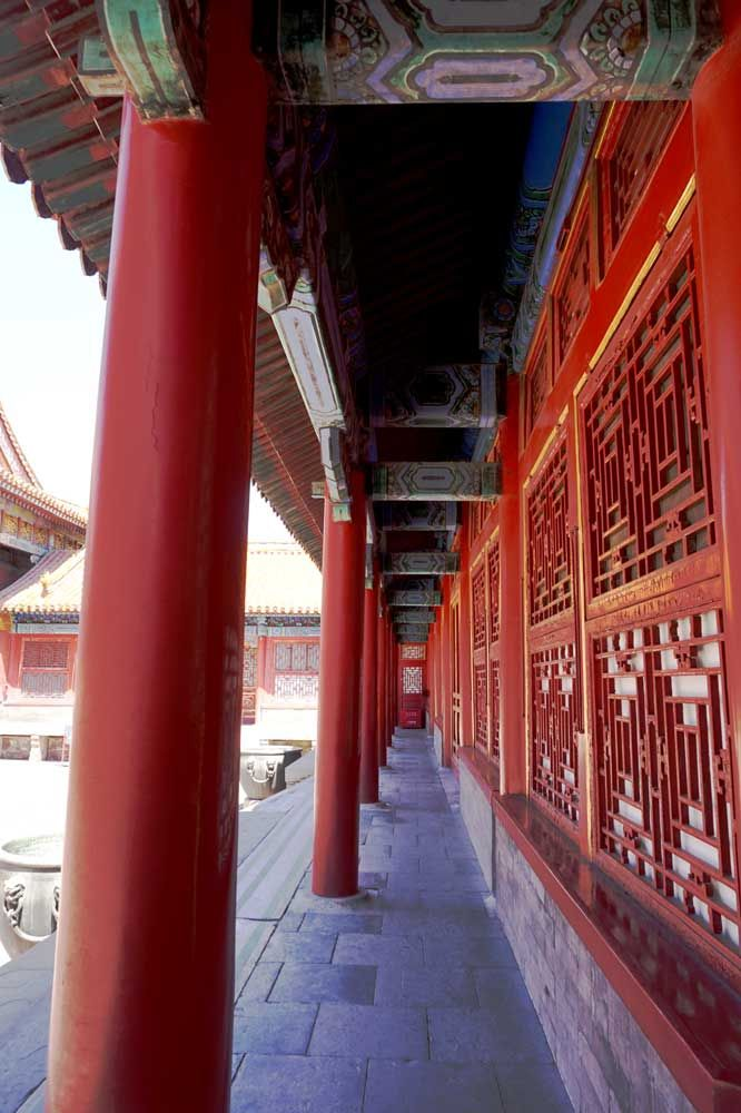A gorgeous walkway in the Forbidden City, Beijing, China