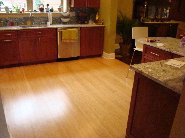Merveilleux The Benefits Of Kitchen Bamboo Flooring Go Beyond The Beauty They Can Add  To Home Kitchens.With All Of The Advantages Of Using Kitchen Bamboo Flooring,  ...