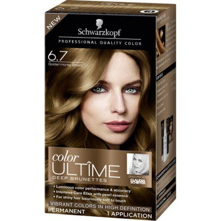 Schwarzkopf Color Ultime Deep Brunettes Hair Coloring Kit, 6.7 Golden Honey Brown