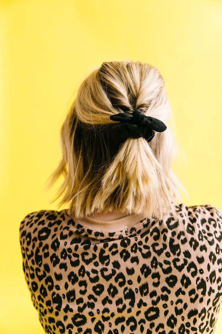 Mini Black Scrunchie