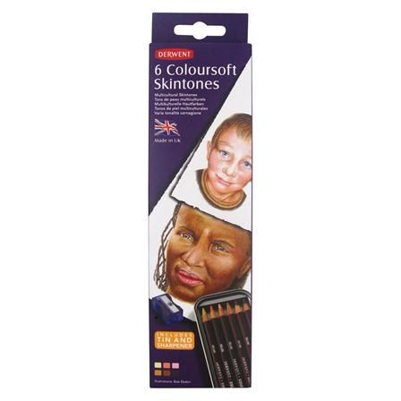Derwent Coloursoft Skintones Tin of 6, $10 !!