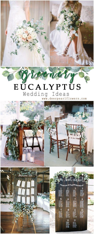 Grüne Eukalyptus rustikale Hochzeit Dekor Ideen #grün #hochzeit #hochzeitsideen #dp