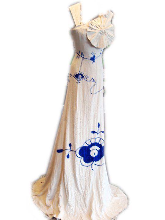 Musenmalet kjole fra Højer Design Efterskole. Lavet i 2010/2011