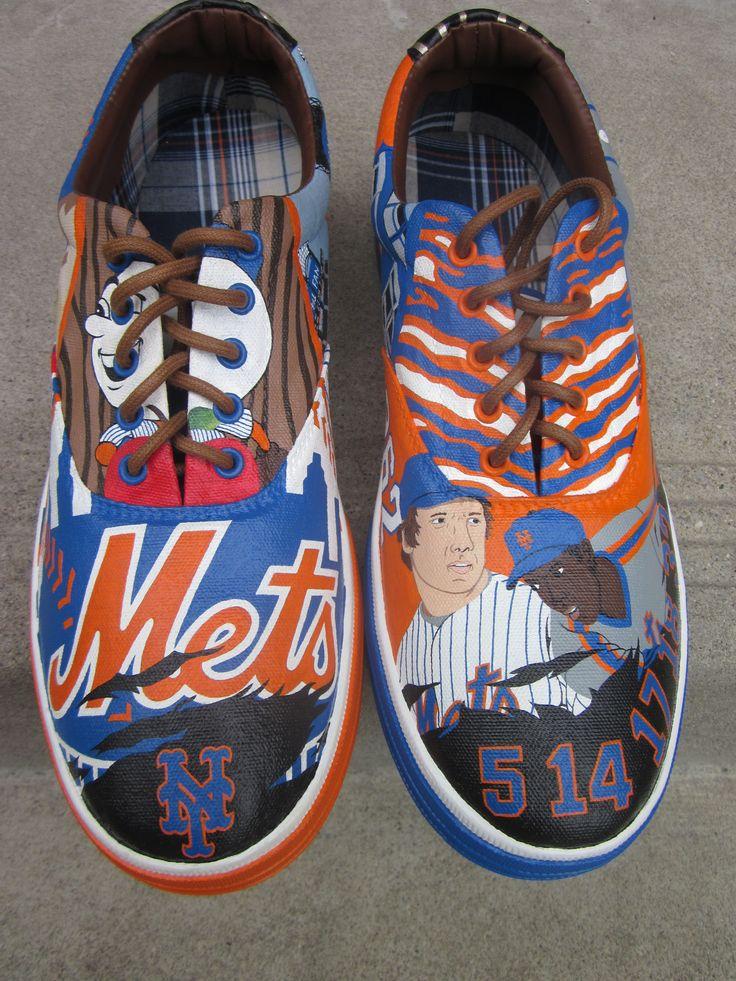 NY Mets Baseball Custom Kicks