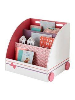 biblioth que sur roulettes th me multicat vertbaudet. Black Bedroom Furniture Sets. Home Design Ideas