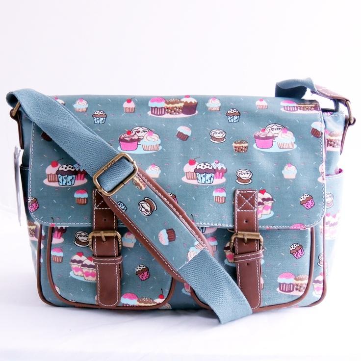 Green cupcake print satchel £21.95 x