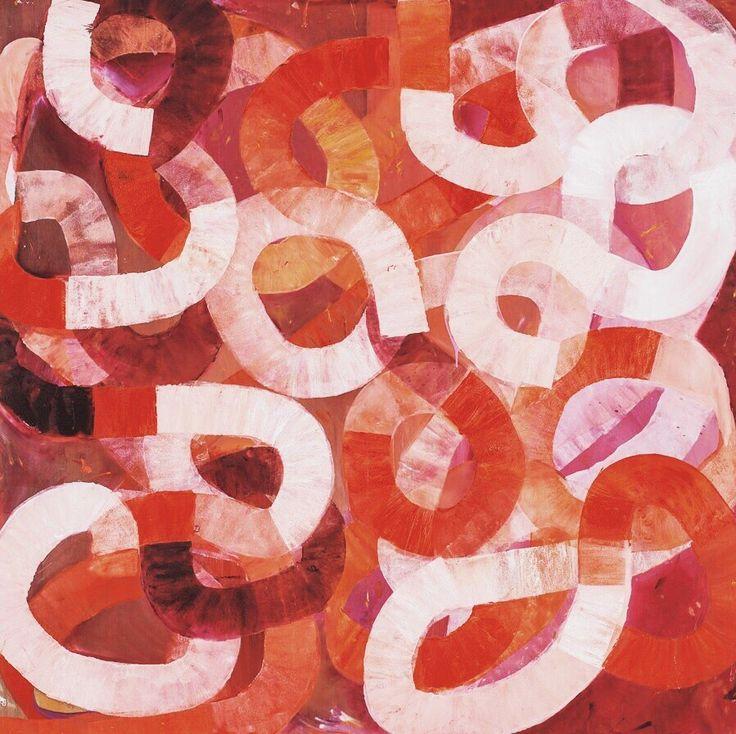 РИТМИЧНЫЕ ВОЛНЫ ПОБЕДИТЕЛЬНИЦЫ BULGARI ART AWARD Ильдико Ковач рисует ритмичные волны света и тени. Ленты цвета петляют друг с другом, создавая начертания истории, повествуя нам о хитросплетениях жизни, все взаимосвязано в этой красивой запутанной массе. http://kickymag.ru/kultura-iskusstvo/ritmichnye-volny-pobeditelnicy-bulgari-art-award