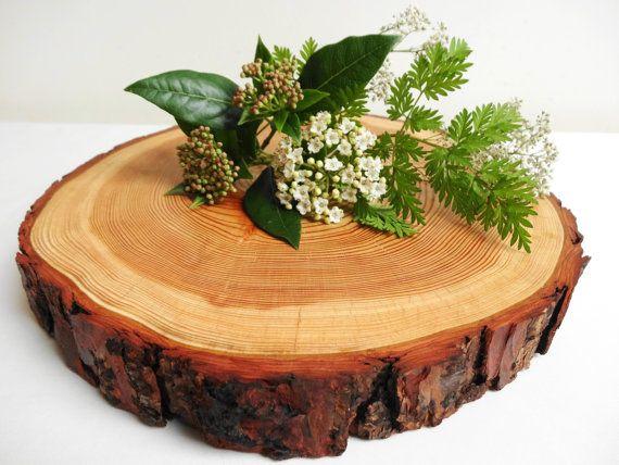 """10.5"""" Wood Slab, Tree Slice, Tree Trunk Slice, Wood Circle, Wood Slice, Cake Base, Centerpiece, Treats Display"""