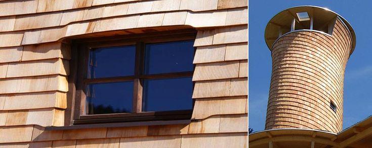 Holzschindeln verlegen - Anleitung - Wandverkleidung und Wandmontage