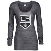 Los Angeles Kings New Era Women's Primary Logo Tri-Blend Long Sleeve T-Shirt – Black