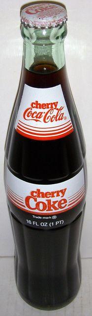 1985 Cherry Coke Glass Bottle by roitberg, via Flickr