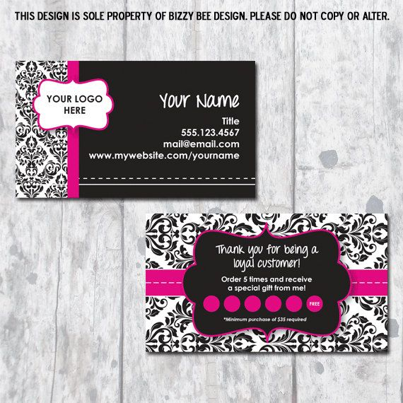 Direct Sales Business Card   Ribbon Design