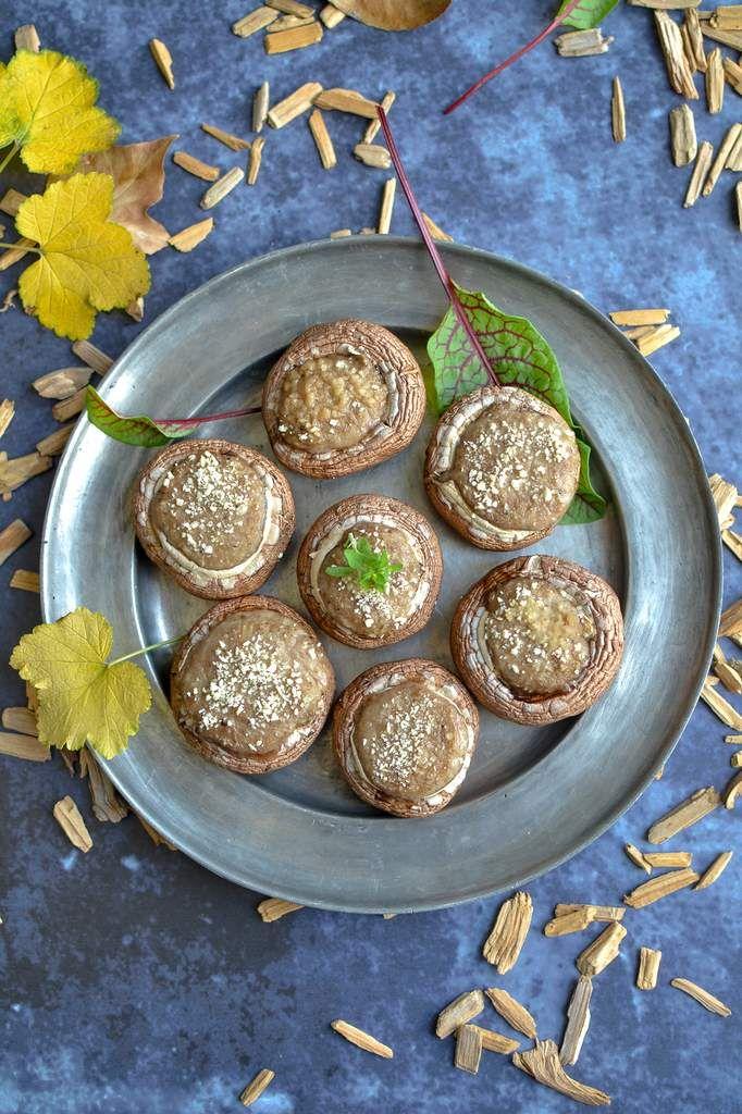 Champignons farcis apéritifs - Les recettes de Juliette   Champignons farcis, Champignons farcis ...