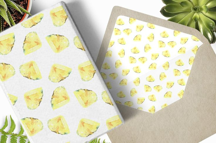 Pineapple Slices Patterns by CatherineWheel on @creativemarket