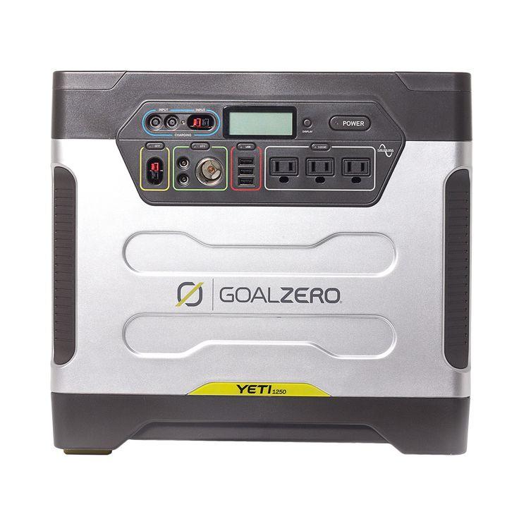 Yeti 1250-Watt Solar Generator with Roll Cart