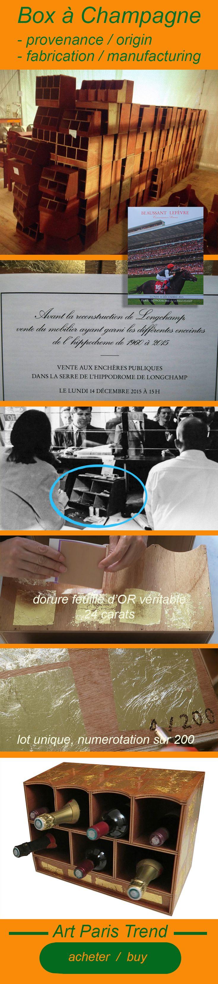 Superbe Box à Champagne pour un intérieur unique! il s'agit des anciennes caisses comptables manuelles en provenance de l'hippodrome de Longchamps mis en vente pour la reconstruction de l'hippodrome. A s'offrir ou à offrir!   #horses #pmu #courses #horserace #jockey #france #paris #chantilly #race #hippodromedevincennes #coursehippique #prixdediane #horseraces #horseriding