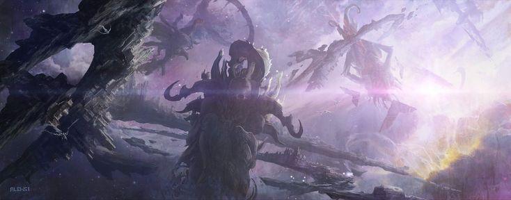 Dungeons and Dragons / Astral Plane, Aleksi Briclot on ArtStation at http://www.artstation.com/artwork/dungeons-and-dragons-astral-plane