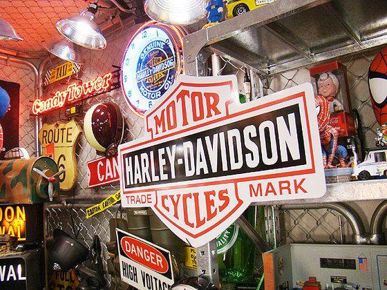 ハーレーダビッドソンのビッグサイズ看板(バー&シールド)★アメリカ雑貨★アメリカン雑貨