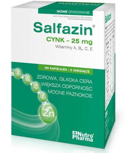 SALFAZIN x 90 capsules, hair skin and nails supplement, vitamins