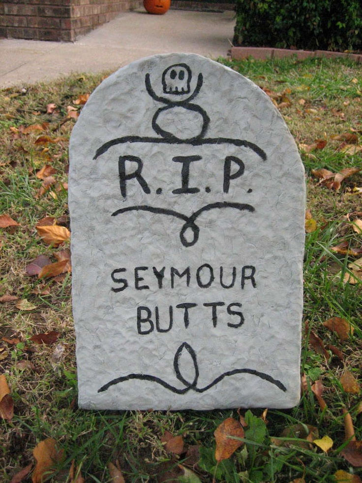 halloween tombstone lawn decoration - Funny Halloween Tombstone Names