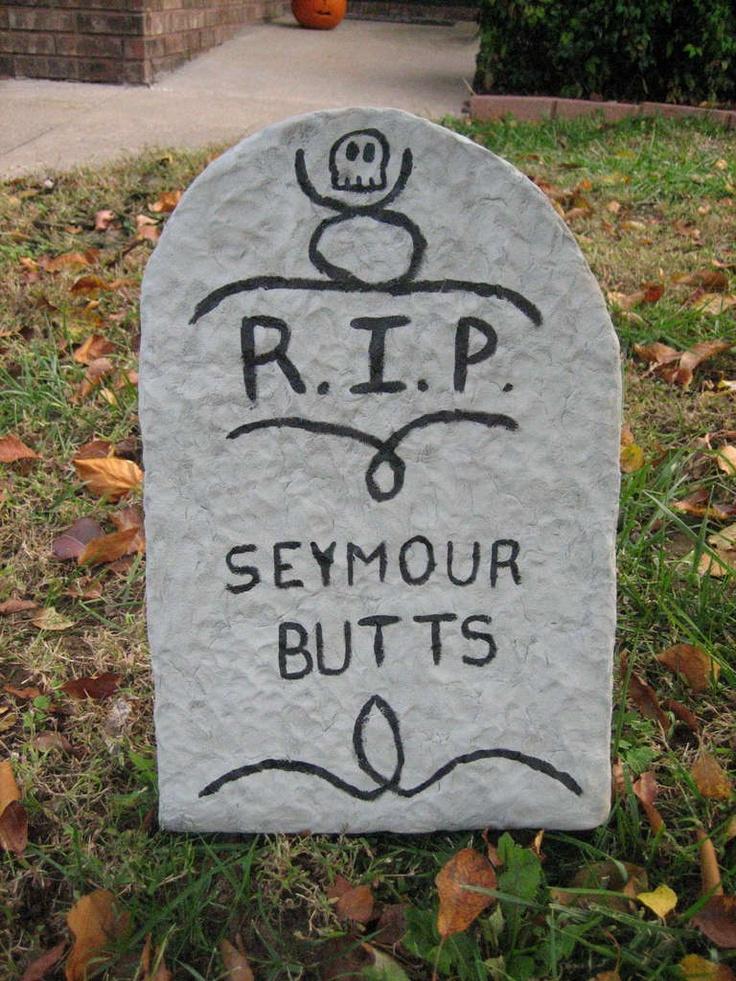 halloween tombstone lawn decoration - Funny Halloween Tombstones