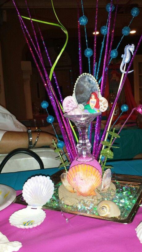 little mermaid centerpiece party ideas pinterest. Black Bedroom Furniture Sets. Home Design Ideas