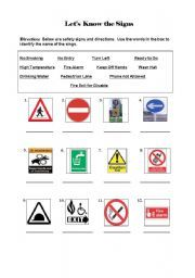 This is a photo of Dynamite Free Printable Safety Signs Worksheets