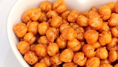 Top with Cinnamon's Sweet & Spicy Roasted Chickpeas – Fab Food 4 All  – Food