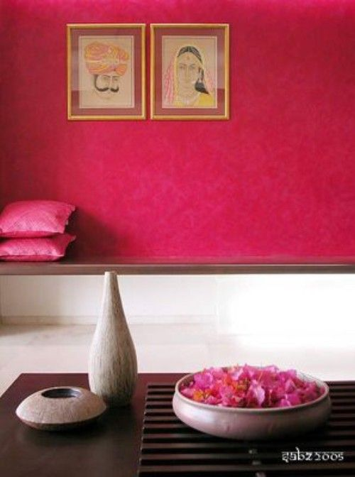 Pink. The navy blue of India.