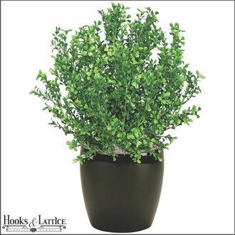 "16"" Artificial Boxwood Bush Outdoor Rated for planter box. $10"
