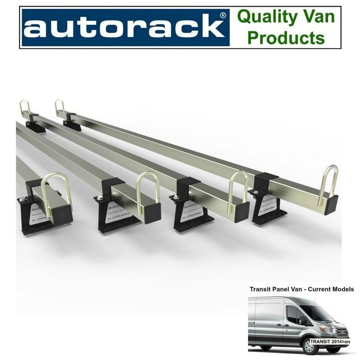 Van Roof Rack 4 bars Latest FORD TRANSIT Panel Van 2014-to-New Autorack MegaBars #AUTORACK