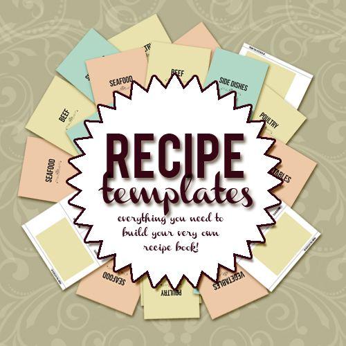 cookbook templates create your own recipe book word pdf