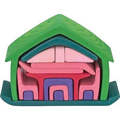 Glückskäfer 523265 Haus mit Möbel, grün/rose