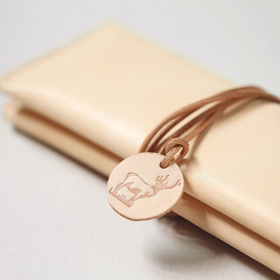 100% Hand-stitched Leather Pencil Case Multi-pouch Vegetable Tanned Leather Wallet Case on Etsy, $39.00