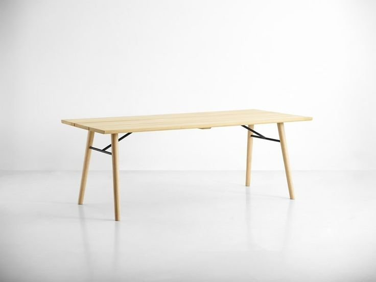 Split dining table, soap treated tabletop and legs • Designed by Says Who #diningtable #table #planktable #design #WOUDdesign