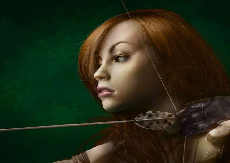 Young archer by Mikhail Kovalev