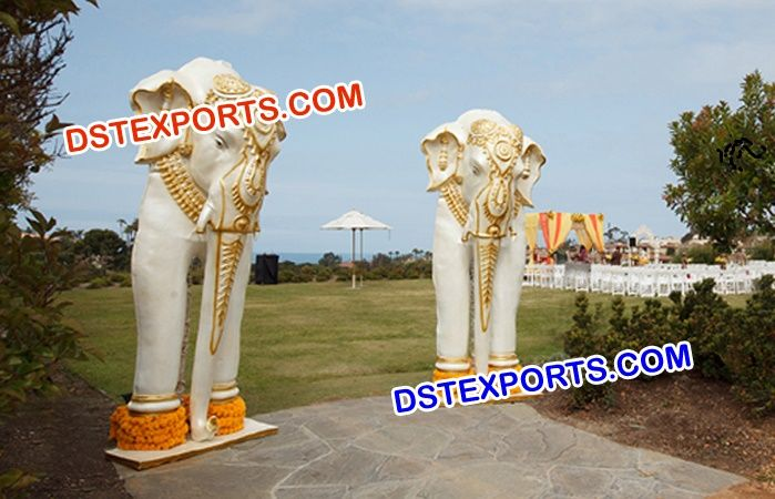 #Fiber #Elephant #Statues #For #Wedding #Dstexports