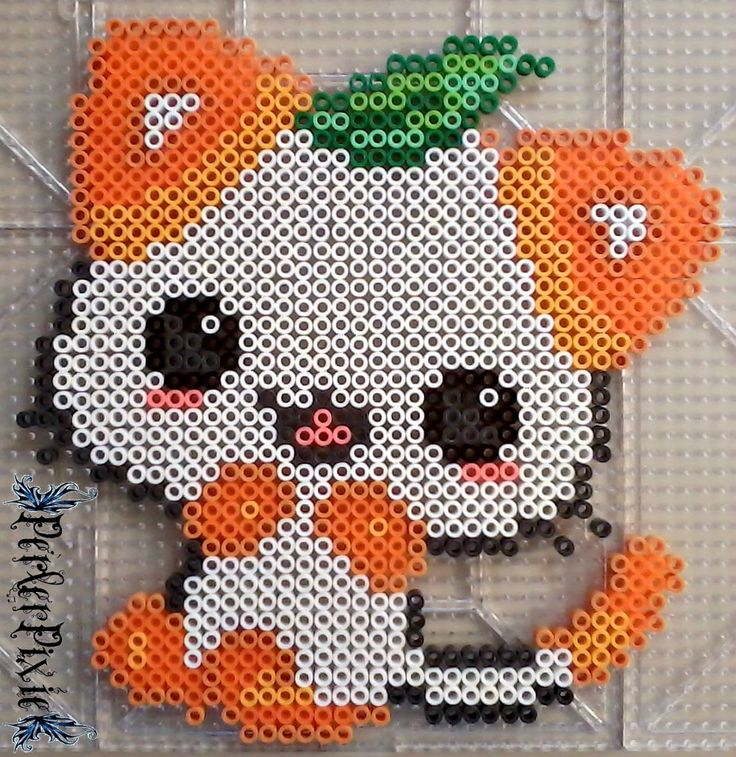 Orange Kitty by PerlerPixie on DeviantArt